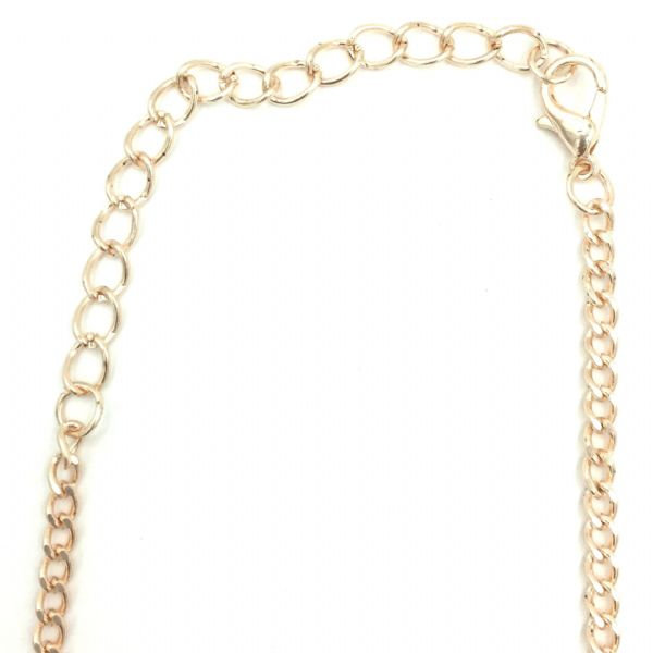 Ready made curb chain 3mm x 5mm 31.5 inches - rose gold / champagne